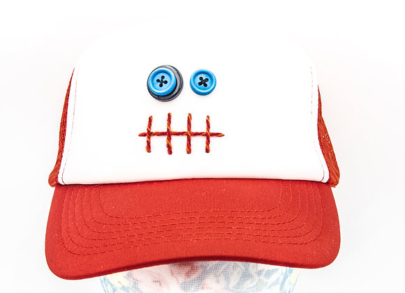 Kleiderfee Monstercap in Rot Basecap Upcycling