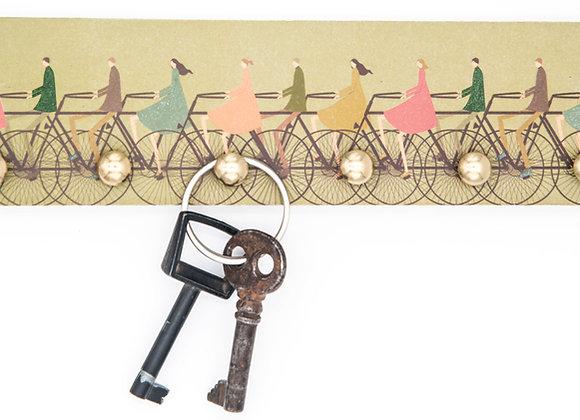 The Tiny Bug 6 Nägel Schlüsselbrett Fahrräder auf grün