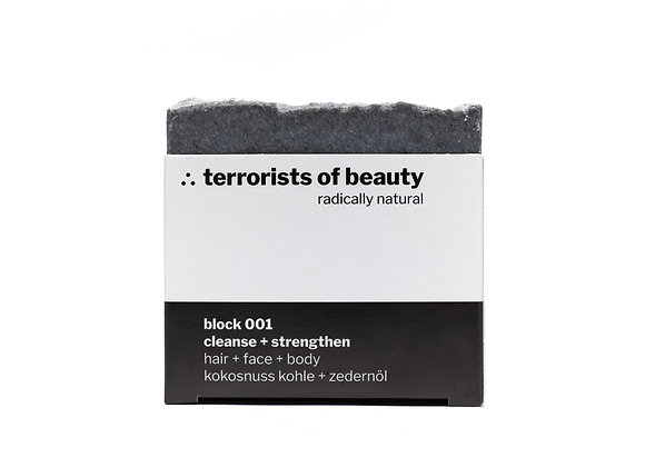 Terrorists of Beauty Seife Block 001: Cleanse + Strengthen