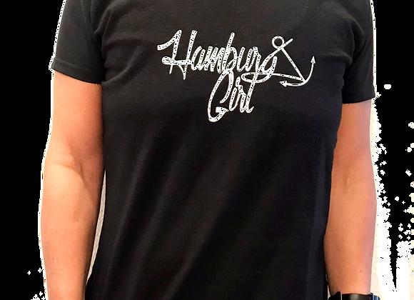 Kleiderfee Shirt für Mädels Hamburg Girl in Schwarz