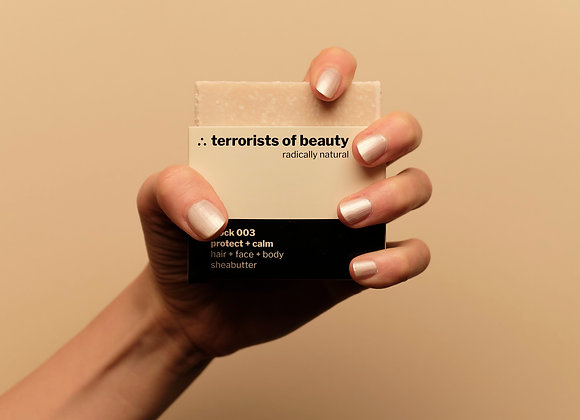 Terrorists of Beauty Seife block 003: Protect + Calm