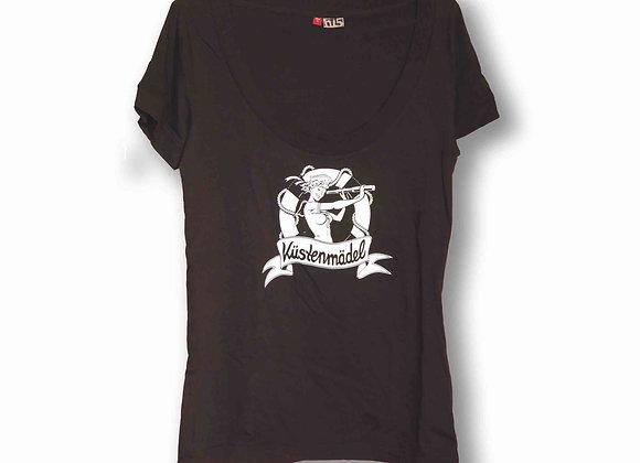 Kopie von Küstenmädel Pin Up 50s Rockabella Seemannsbraut schw Retro Shirt marit