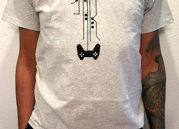 Kleiderfee Männershirt mit Siebdruck Spielkonsole in Schwarz
