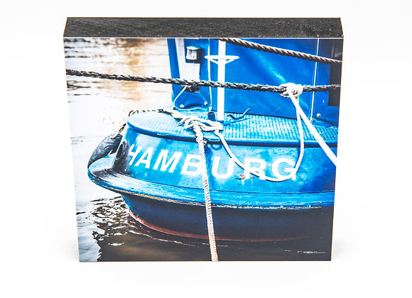 Eva Photography Quadrat Bild Blaues Schiff Hamburg Maße 10x10cm