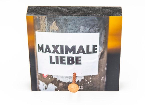 Eva Photography Mini-Quadrat Schlüsselbrett mit 1 Nagel Maximal Liebe