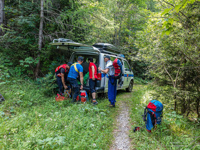 🚨 30.07.2021 Bergwacht rettet verstiegene 58-Jährige aus absturzgefährlicher Rinne am Fuderheuberg