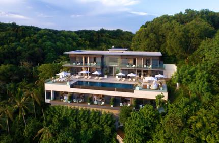 Thailand Yoga Holidays Destination Luxury Beachfront Villa Topview