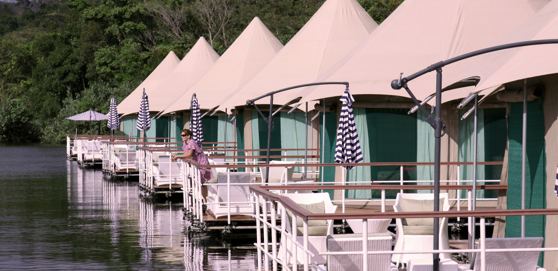 Floating tented bungalows