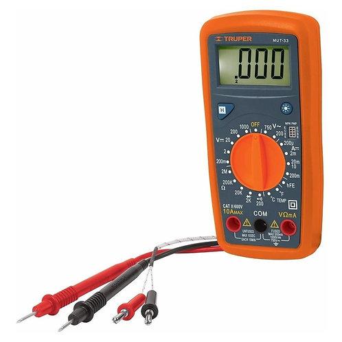 Multímetro Digital Pro. Mod Mut-33 Truper 10401