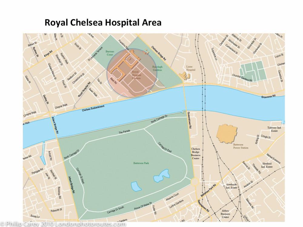 royal chelsea hospital map