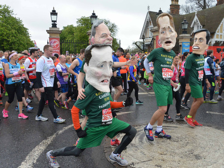 20 Images of London Marathon 2015 – Fancy Dress Runners – Start and End