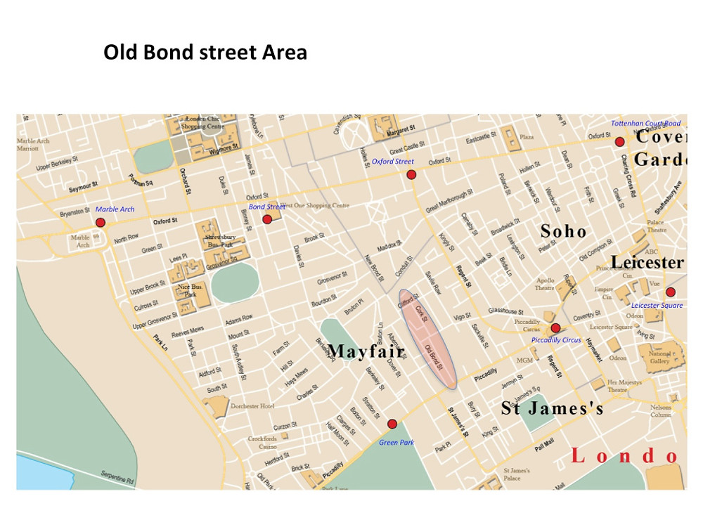 Map Old Bond Street