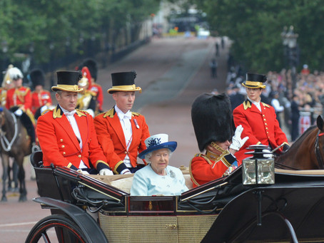 20 Images of the The Trooping of the Colour – Spectators View From Outside Buckingham Palace.