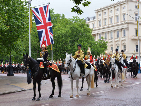 20 Images of the Household Cavalry Standards Parade, Horse Guards Parade 28 May 2014