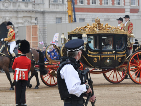 12 Police on Ceremonial Duties in London