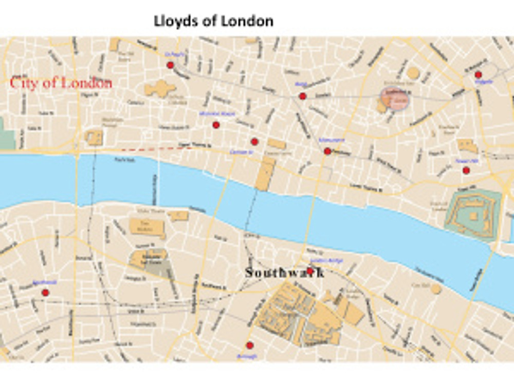 lloyds of London map