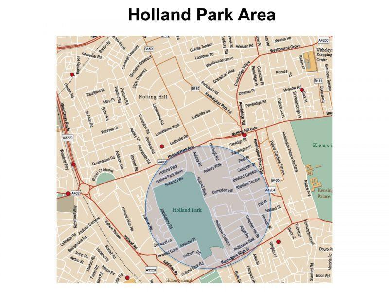 Holland Park map