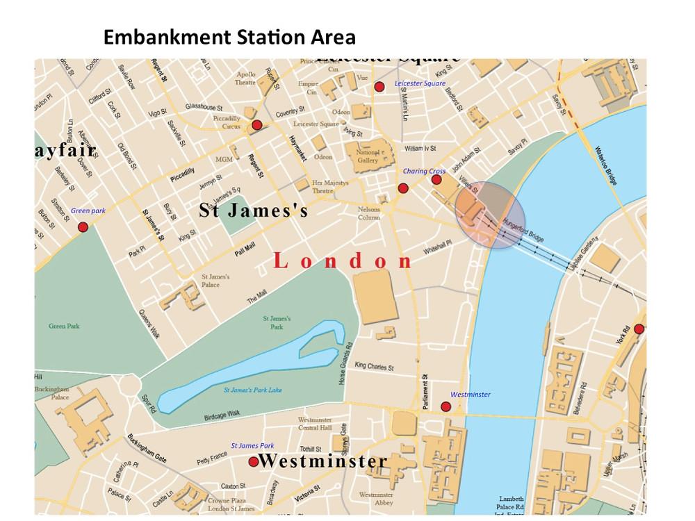 Map Embankment Area