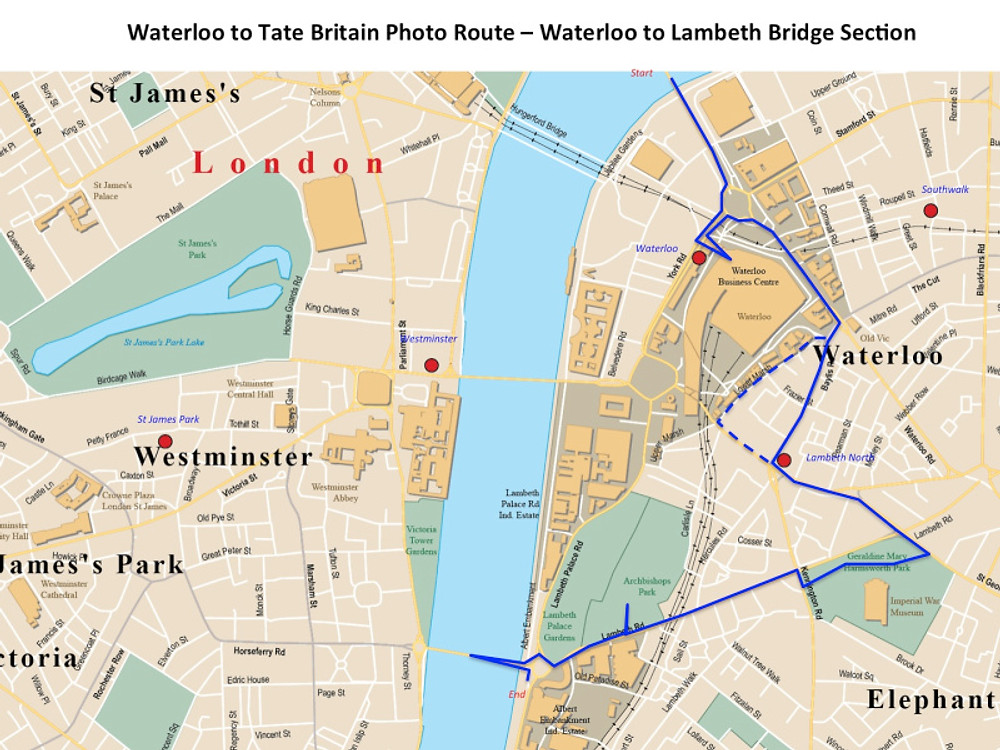 Waterloo to tate part 1 to Lambeth bridge