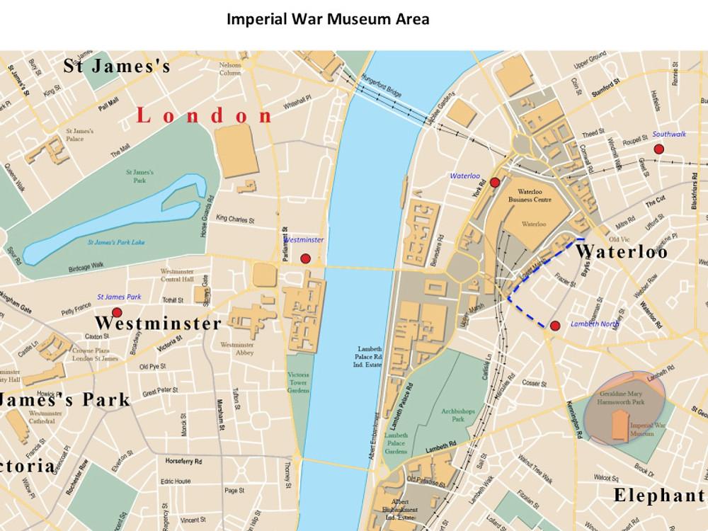 Imperial War Museum Map