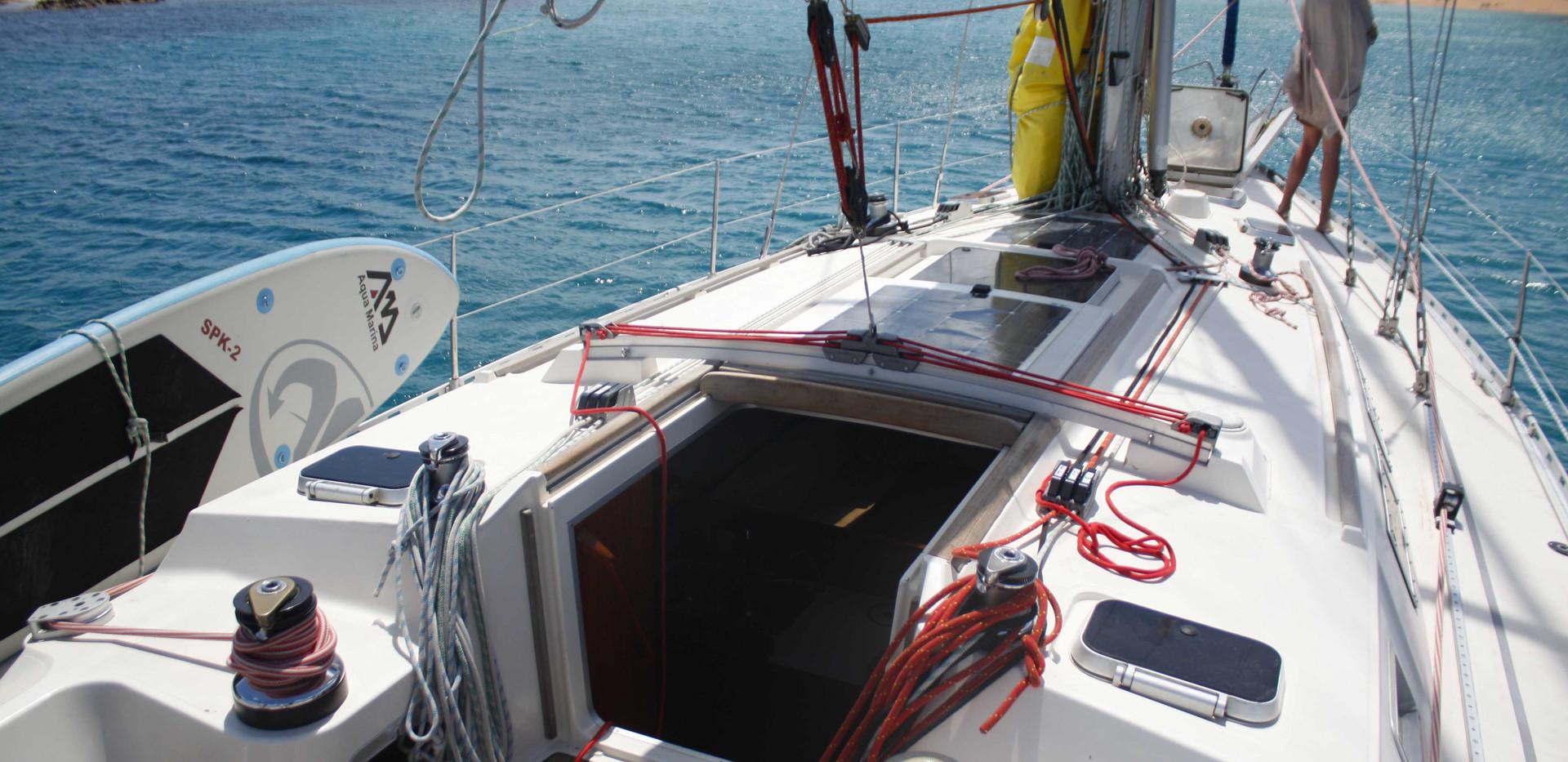Le cockpit à Minorque