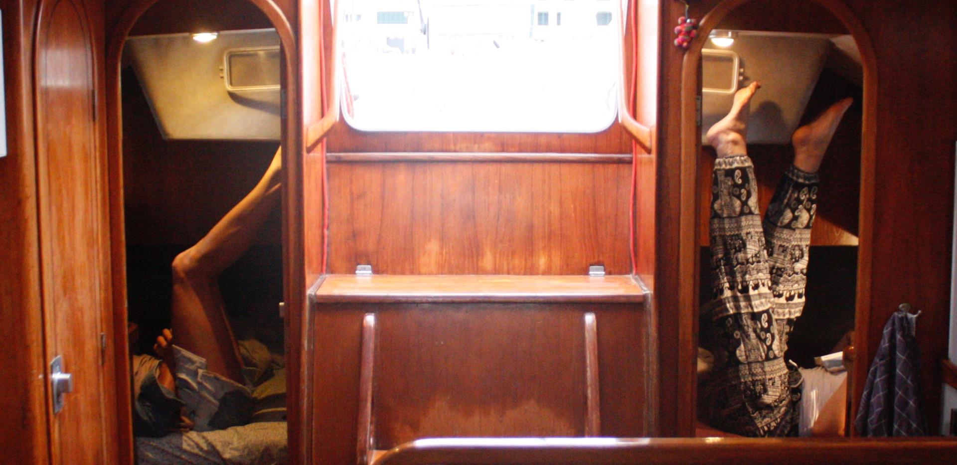 Le carré avec 2 cabines arrières