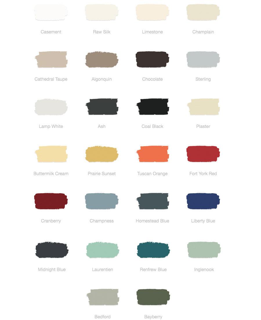 Annie sloan farben, paint colour card