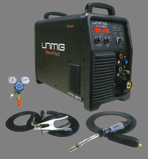 Unimig Razor Weld 250 Digital Multifunction Welding Inverter Machine KUMJRDP250