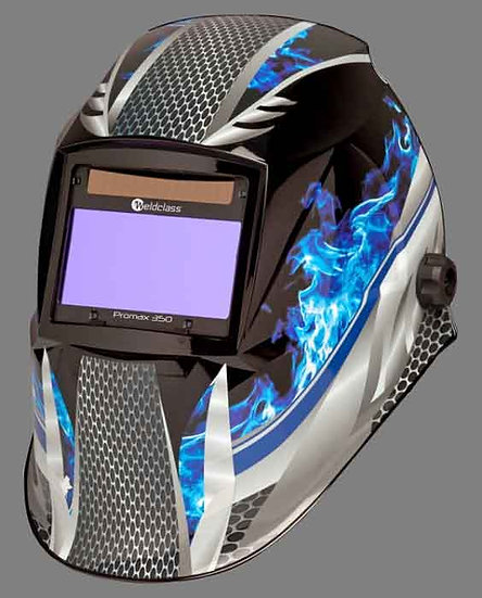 WELDCLASS PROMAX FLAME 350 4 SENSOR BLUE AUTOMATIC WELDING HELMET