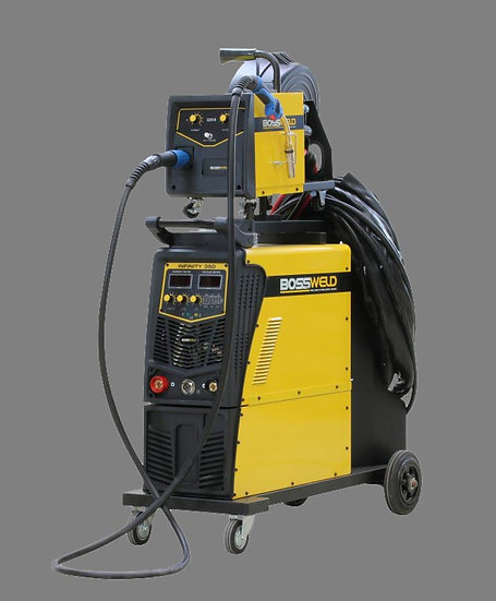 Bossweld Infinity Multiprocess SWF 350 600355 3 Phase welding machine in yellow
