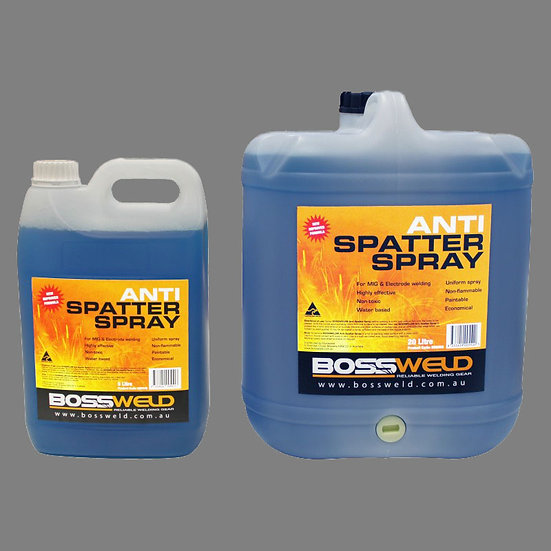 Bossweld Blue Water Based Anti Spatter 800049 and 800050 for welding