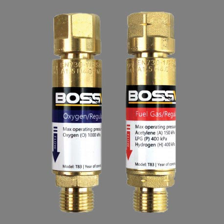 Bossweld Flashback Arrestor for use in oxy kits for safety