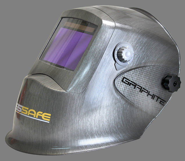 BossSafe Graphite Wide View Electronic Welding Helmet 700200  for all welding applications