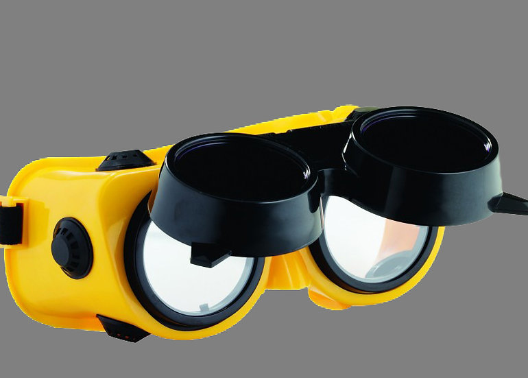 Bossweld Gas Welding Flip-Up Goggles700055 for high glare and heat situations