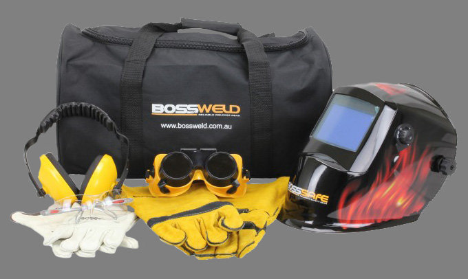 BossSafe Student Safety Kit 700315, 700315B, 700315C, 700315D With the included auto darkening welding helmet