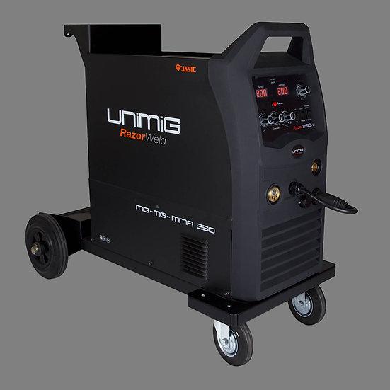 UniMig Wheel-mount MIG-TIG-Arc 250A Inverter (KUMJR250K-SG)