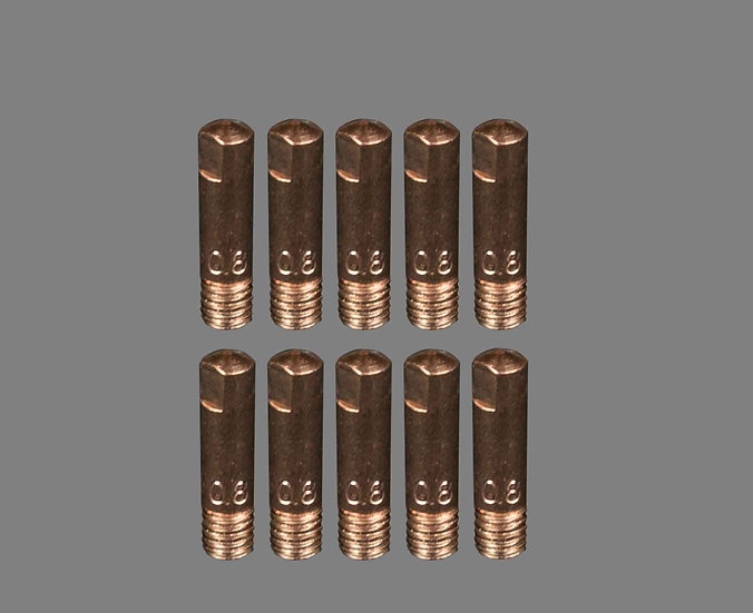AIG 0.8MM Binzel Style 15 Welding Tips For Mig Welding Machines Contact Tips For Use In MIG Welders