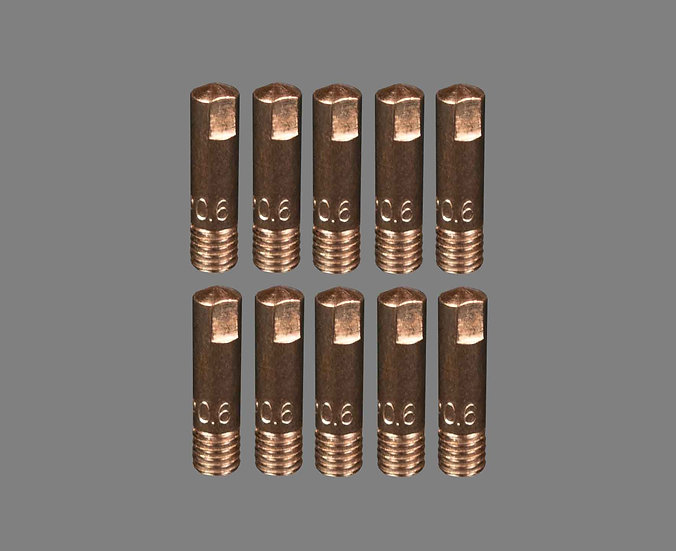 AIG 0.6MM Binzel Style 15 Welding Tips For Mig Welding Machines Contact Tips