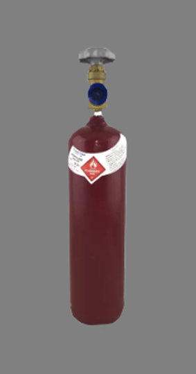 C-Size Acetylene Gas Bottle For Oxy Acet Cutting Welding Brazing