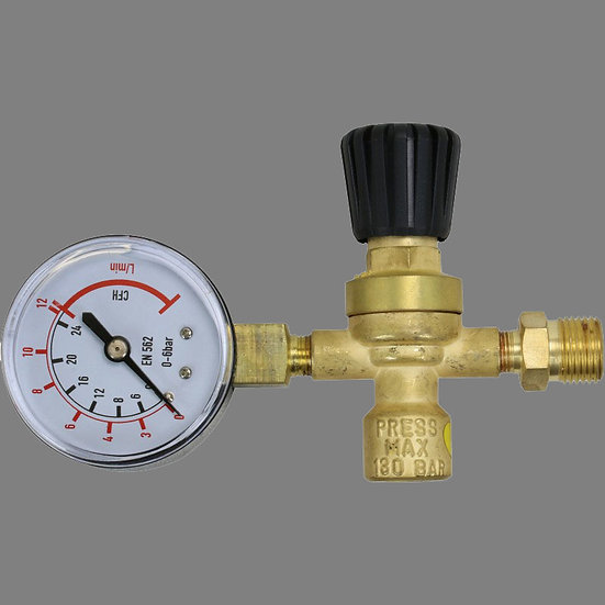 BossGas Disposable Gas Bottle Regulator 600044 for use with any gas