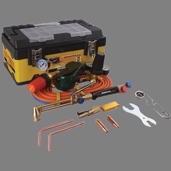 Bossweld Oxygen/LPG Starter Gas Kit400002 and400002FBA complete with all accessories and hoses
