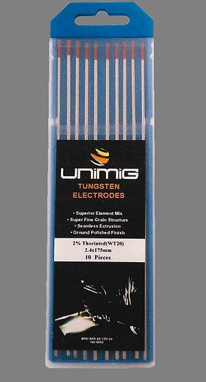 RED WT20 2.0% Thoriated Tungsten Electrodes Welding TR0004-10 TR0004-16 TR0004-24 TR0004-32