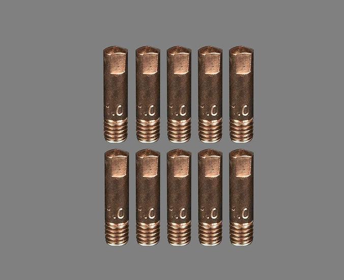 AIG 1.0MM Binzel Style 15 Welding Tips For Mig Welding Machines Contact Tips