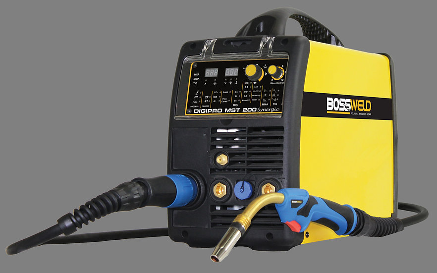 Bossweld DigiPro MST 200 Synergic 600585 mig, tig and arc welding machine for industrial use