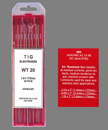 26V TIG THORIATED TUNGSTEN TORCH ELECTRODES WELDING INDUSTRIAL Perth