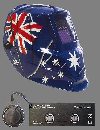 UNIMIG AUSTRALIAN FLAG WELDING HELMET INDUSTRIAL, Perth Helmet UMAFH-2