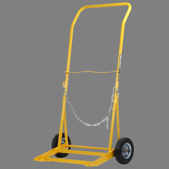 Bossweld Cylinder Trolley G Size 200mm Pneumatic Wheel for large gas bottles that are used for all purpose welding