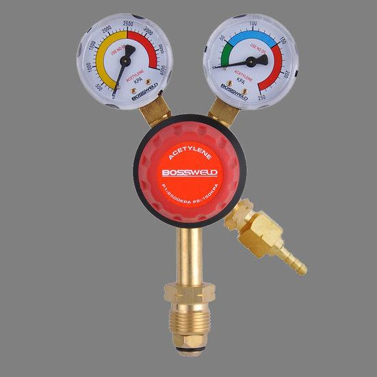 Bossweld Acetylene Gas Regulator 400213 in orange