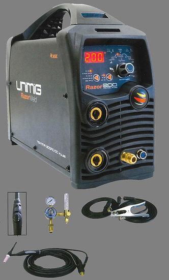UNIMIG TIG/MMA 200 Amp AC/DC Inverter Welder Digital Control 240V Single Phase Welding Industrial KUMJRRZ200ACDC