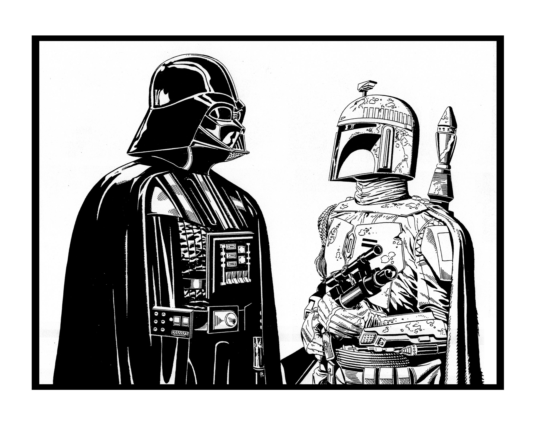 Vader and Fett
